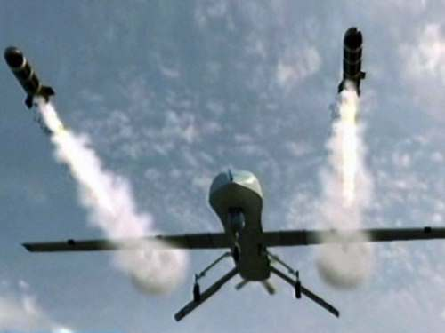 Drone firing missiles