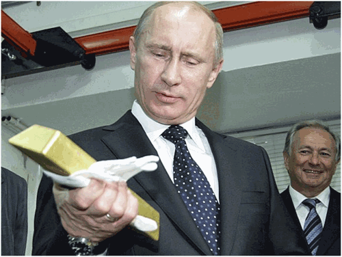 Putin Russia Gold Bar