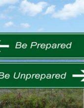 Be-Prepared-Unprepared-Sign